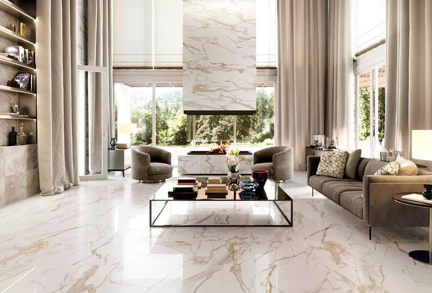 Tiling: Marble tiles patterned